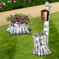 Комплект садовых фигур Умывальник и Кашпо - фото 14077
