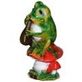 Садовая фигура лягушка с домрой