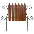 Кованый секционный забор с деревом (6  штакетин) - фото 14388