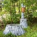 Комплект садовых фигур Умывальник и Кашпо - фото 14539