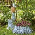 Комплект садовых фигур Умывальник и Кашпо - фото 14540