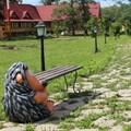 Дачная скамейка Еж с кирпичем - фото 14585