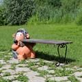 Дачная скамейка Еж с кирпичем - фото 14586