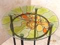 Цветочная подставка с витражом - фото 14871
