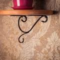 Полка с кованым декором - фото 17141