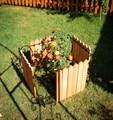 Кованый секционный забор с деревом (6 штакетин) - фото 17336
