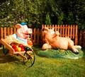 Комплект фигур свинки - фото 17682
