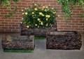 Садовая фигура кашпо пень