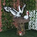 Аисты в гнезде фигура для сада