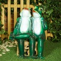Садовая фигура Две лягушки F01166 - фото 19985