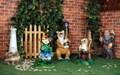 Садовый светильник Старик с филином - фото 20010