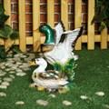 Садовая фигурка утка с селезнем