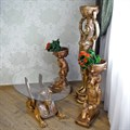 Стол для гостиной под бронзу