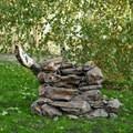 Садовый фонтан скала U08066