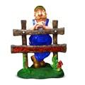 Садовая фигура Мужичок с забором