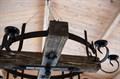 Подсвечник деревянный на цепочке