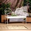 Кованый диван для сада