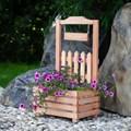 Деревянная цветочница для дачи