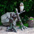 Фигура для сада Сова на дереве