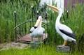 Садовые фигуры пеликанов