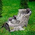 Дачный фонтан зверьки