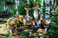 Парковые скульптуры оленей