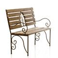 Кованая скамейка для сада - фото 37048