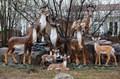 Садово-парковые фигуры оленей