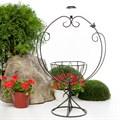 Кованая садовая цветочница