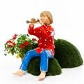 Мальчик с дудочкой фигура для сада