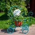 Подставка для цветов тыква-карета - фото 56089