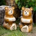 Скамейка садовая Медвежата - фото 57909