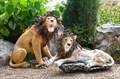 Садовая фигура Лев рычит - фото 58065