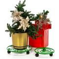 Кованая подставка для цветов на колесиках