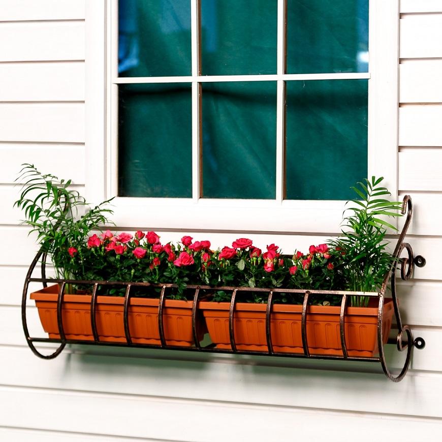 Кронштейны для цветов купить в магазине садового декора hits.